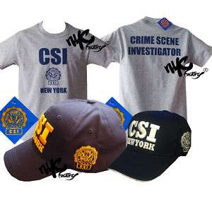 + GRAY T SHIRT GIFT SET CRIME SCENE INVESTIGATION NEW YORK POLICE XL