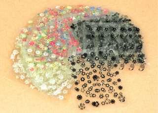 50 x 3D Design Tip Nail Art Sticker Decal Manicure Mix Color Flower