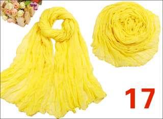 Fashion Long Drape Pure Colour Soft Scarf Shawl Wrap for Women Girls