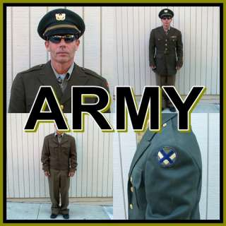 Military OFFICERS UNIFORM GROUP Jackets +++ World War 2 U.S. Vintage