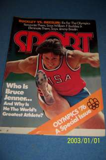 1976 Sport Magazine USA Olympics BRUCE JENNER No Label WORLDS GREATEST