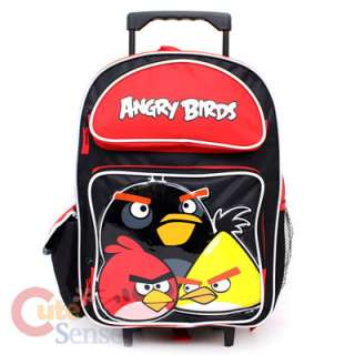 School Roller Backpack /16 Rolling Bag /Trolley  3 Birds Licensed