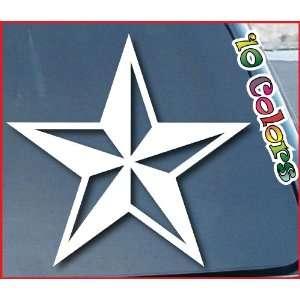 Nautical Star Car Window Sticker 8 Wide White Everything