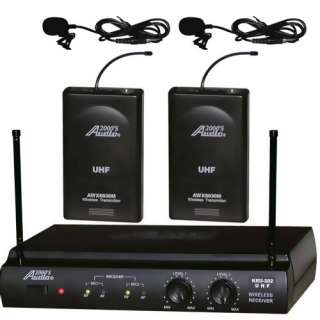 UHF 2 Lapel (Lavalier) Wireless Microphone System 844565000347