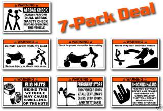 Pack Sport ATV Warning Stickers Decal Quad KFX 450R