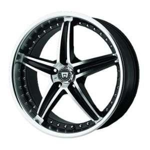 Motegi MR107 20x8.5 Black Wheel / Rim 5x120 with a 42mm Offset and a