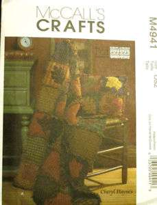 McCalls 4941 Crafts Rag Quilt Pattern with Leaves