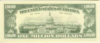Million Dollar Bill   Millennium Note series 2000, Serial number