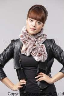 554 new real Rex rabbit fur 10 color scarf/shawl/wrap