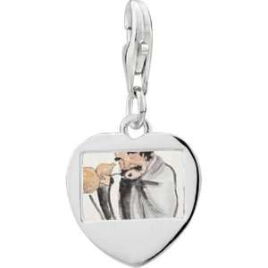 925 Sterling Silver Self Joyfulness Painting Photo Heart