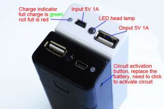 portable type 5V 1A Mobile Power Supply USB Battery Charger 18650 Box