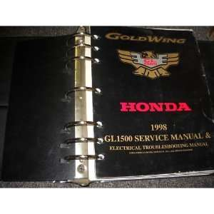 1998 Honda Gold Wing GL1800 Service Shop Manual SET honda Books