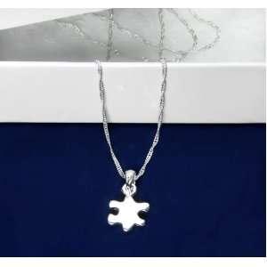 Autism Silver Puzzle Piece Necklace (18 Necklaces