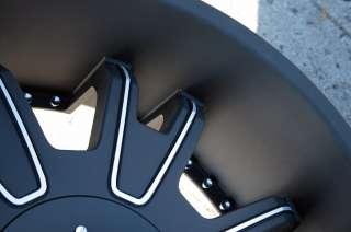 KMC SHILO 664 24 BLACK RIMS WHEELS DODGE MAGNUM RT BASE