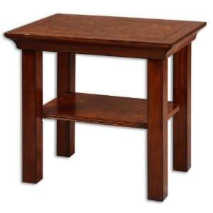 Uttermost 28 Inch Costner End Table Solid, Simple Styling In Hardwood