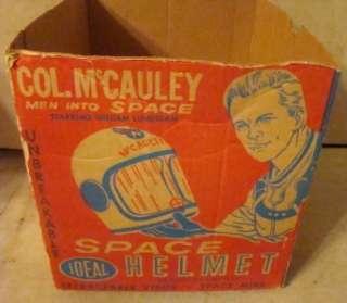 McCauley Men Into Space IDEAL Toy Space Helmet & Visor Original Box
