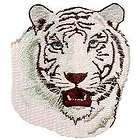 Lovely White Tiger Head Big Wild Cat Iron on Patch