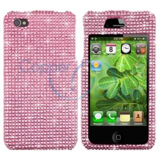 Diamond Hard Case Cover+White Handsfree+SP For iPhone 4 4G 4S
