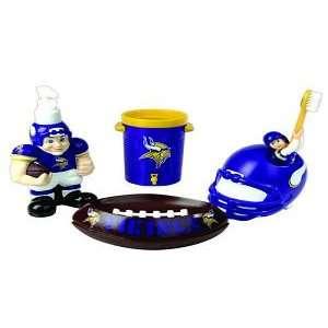 Minnesota Vikings 5 Piece Team Bathroom Set   NFL Football