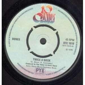 TWICE A WEEK 7 INCH (7 VINYL 45) UK 20TH CENTURY 1975