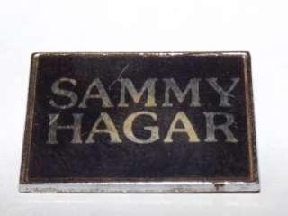 SAMMY HAGAR Original Vintage 70`s/80`s Metal Pin/Badge Van Halen #d104