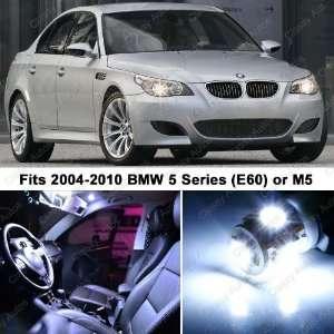 BMW 5 Series White LED Lights Interior Package Kit E60 M5