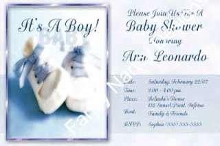 STAR IS BORN CUSTOM BOY PHOTO BABY SHOWER INVITATIONS