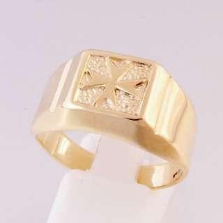 MALTA MALTESE CROSS Jewellery 9ct Gold Ring Size X
