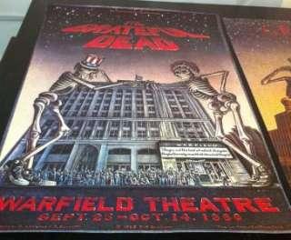 Grateful Dead WARFIELD & RADIO CITY POSTER Set BOTH 1st Printing