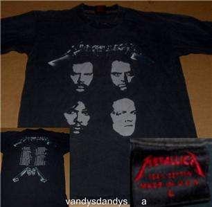 sandman CONCERT tour SHIRT large L medium M 1991 black FACES 90s