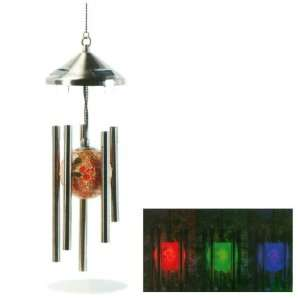 Mosaic Ball Solar LED Wind Chimes   Multi colored LED Wind