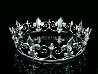 Full Kings Crown Wedding Party Crystal Tiara 9373