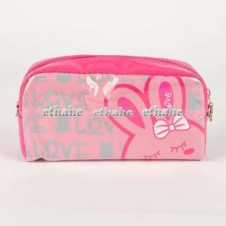 Love Rabbit Plastic Cosmetic Bag Make Up Case E1GP1G