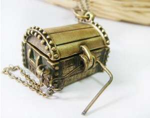Fashion Ancient Treasure Chest Retro Style Valentines Necklace