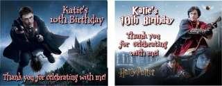 Harry Potter Deathly Hallows Birthday Invitations Favor