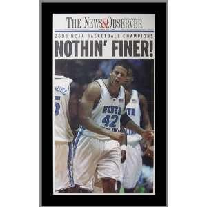 North Carolina Tar Heels   NO NCAA Champions 2004 05   Wood Mounted