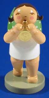 Wendt Kuhn Angel Playing Small Trumpet German Figurine