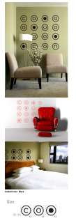 16 Simple Retro Circles Mural Art Decal Wall Stickers