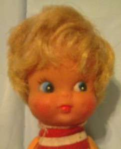 VERY RARE VINTAGE 1950S PEE WEE DOLL TAIWAN W/ OUTFIT