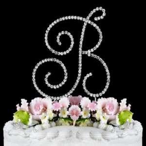 Swarovski Crystal Monogram Letter Wedding Cake Topper
