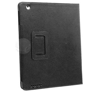 11 Accessories For iPad 2 3G Black+Purple Leather Case