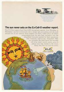 1968 US Navy Weather Reports XLO Ex Cell O Memory Ad