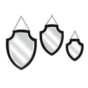 Crestly Black Wall Mirror   Set of 3