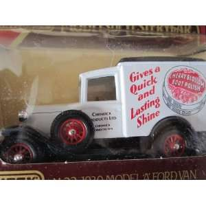 1930 Model a Ford Van (White) Cherry Blossom Boot Polish Logo Matchbox