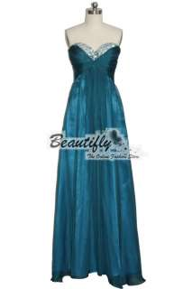 New Bridesmaids Bridal Chiffon Beads Sequins Long Formal Gown Evening