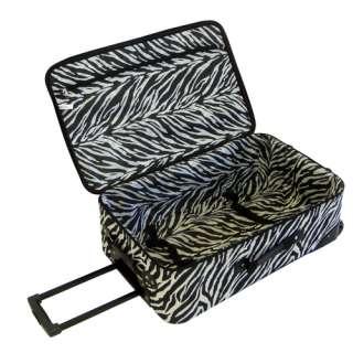 American Flyer Animal Print 5 Piece Luggage Set   Zebra Black