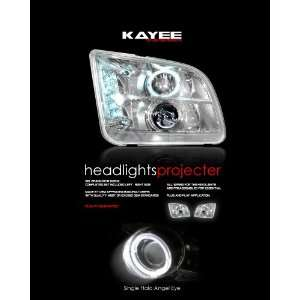 05 06 FORD MUSTANG DUAL HALO PROJECTOR HEADLIGHT CHROME