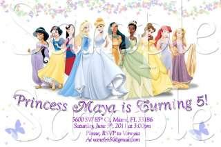 Disney Princess Custom Birthday Invitation YOU PRINT