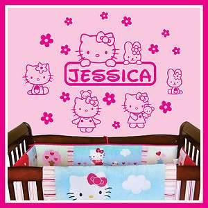 Baby Name Vinyl Wall Decal Sticker Art Decor for Kids Nursery ** HELLO