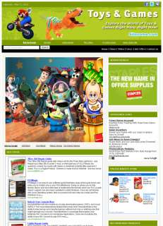 Turnkey Money Making Toy & Games Affiliate Website Sale
